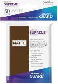 KÁRTYAVÉDŐ / DECK PROTECTORS - Ultimate Guard Supreme UX Sleeves - Solid - Matte Brown (50)