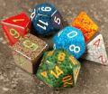 D&D DOBÓKOCKAKÉSZLET elemental vegyes / DICE SET Koplow Elemental Mixed Color (7)
