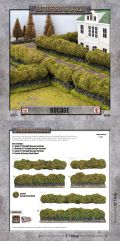 15mm WW2 Scenery - Bocage - Straights (Flocked) (6)