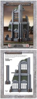 28mm Scenery - Gothic Industrial - Large Corner