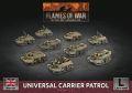 15mm WW2 British Universal Carrier Patrol (9) (Plastic)