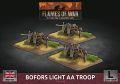 15mm WW2 British Bofors Light AA Troop (3) (Plastic)