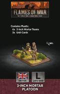 15mm WW2 British 3-inch Mortar Platoon (6) (Plastic)