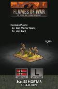 15mm WW2 German 8cm SS Mortar Platoon (6) (Plastic)