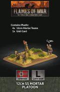 15mm WW2 German 12cm SS Mortar Platoon (4) (Plastic)