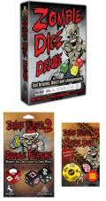 ZOMBIE DICE Deluxe Dice Game (2+) English Edition + 2 Expansions German Ed.