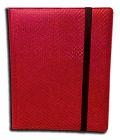 8-PKT PORTFOLIO - Legion - 8 Pocket Binder - Dragon Hide Red