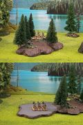 28mm Scenery - FOREST BASE WITH 10 TREES TABLETOP TERRAIN