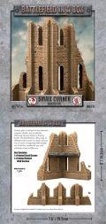 28mm Scenery - Gothic Small Corner Ruins - Sandstone