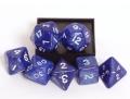 D&D DOBÓKOCKAKÉSZLET gyöngyház kék / DICE SET Pearl Blue (7)