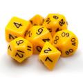 D&D DOBÓKOCKAKÉSZLET tömör napsárga fekete számmal / DICE SET Solid Sunlight Yellow/ Black Numbers (